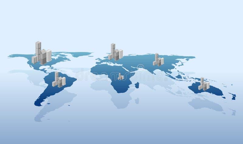 Urbanization On The World Vector Stock Images