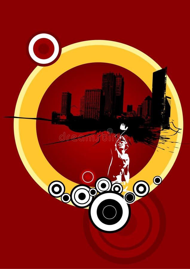 Urbanizzazione. Arte di vettore illustrazione vettoriale