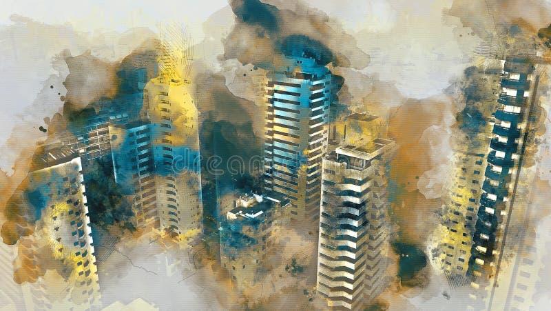 Urbano ilustração royalty free