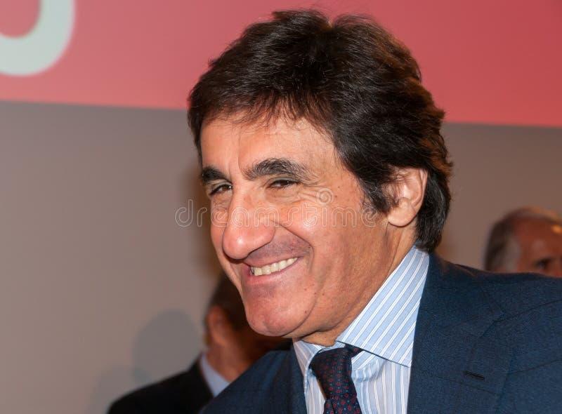 Urbano Cairo, italienischer Geschäftsmann und Fußballteampräsident lizenzfreie stockfotos
