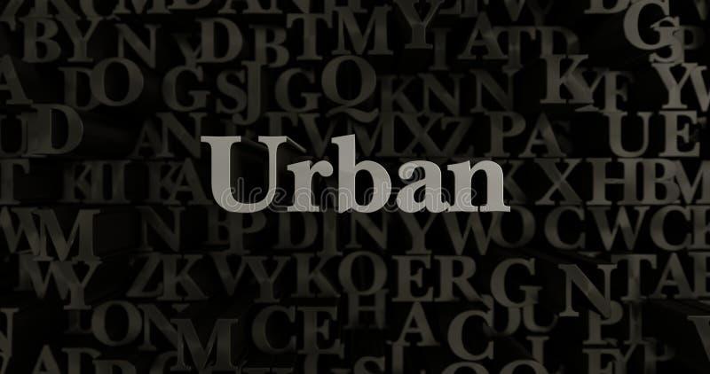 Urbano - 3D ha reso l'illustrazione composta metallica del titolo royalty illustrazione gratis
