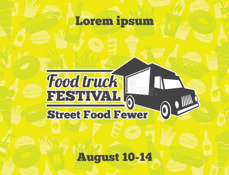 Urbano, ejemplos del vector de la comida de la calle para el cartel stock de ilustración