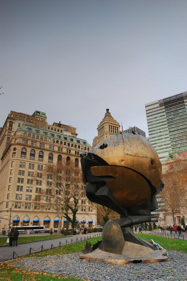 Urbano, scape da cidade Memorial de New York WTC foto de stock