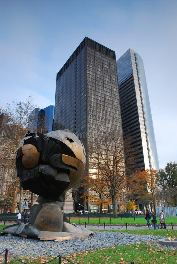 Urbano, scape da cidade Memorial de New York WTC imagens de stock