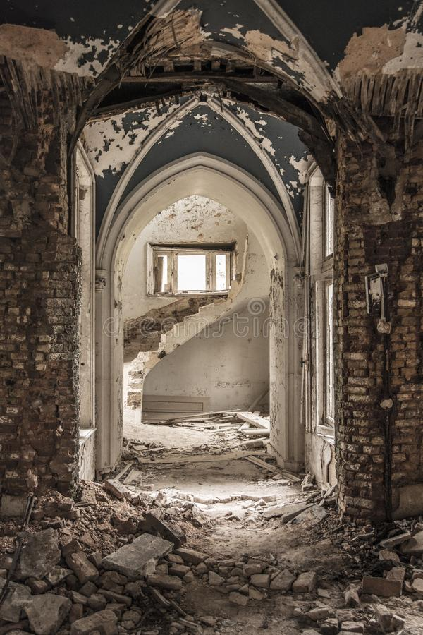 Urbex Castle royalty free stock images