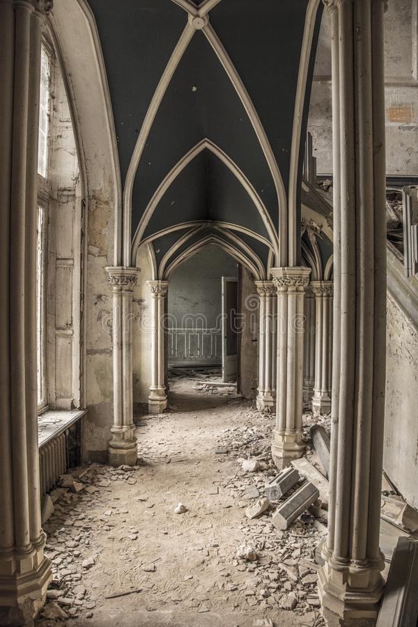 Urbex Castle royalty free stock photography