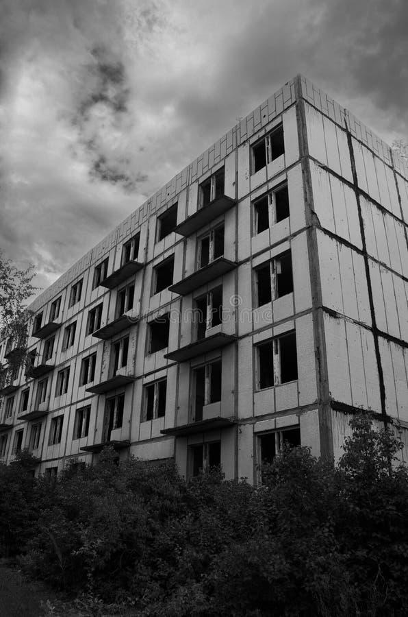 Urbex en cuarteles soviéticos anteriores, Letonia imagenes de archivo