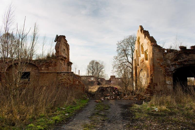 Urbex, porzucający dom, republika czech obraz royalty free