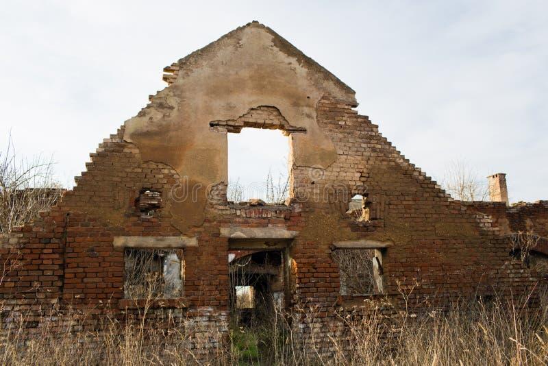 Urbex, verlaten fabriek, Stihnov, Tsjechische republiek stock foto's