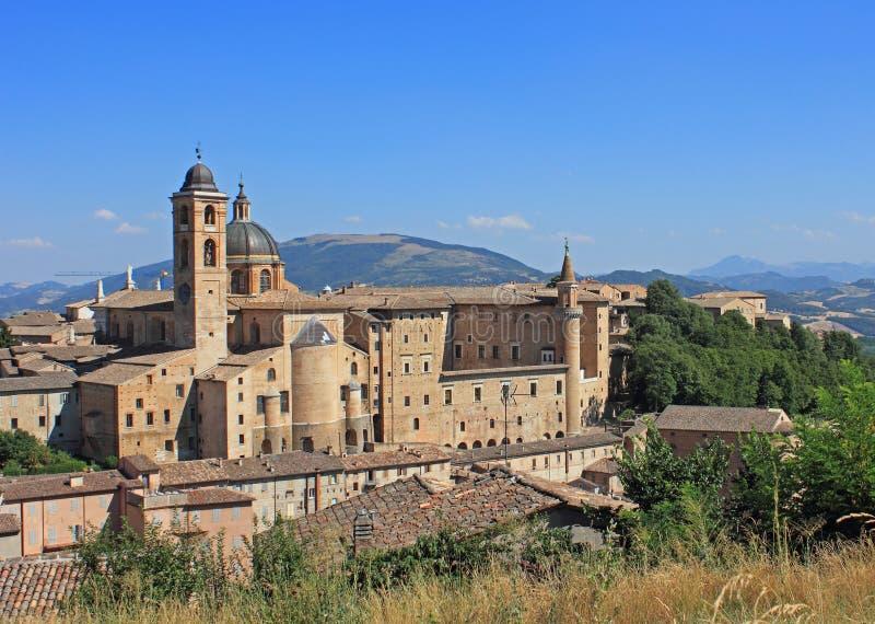 Urbino-Ansicht stockfoto