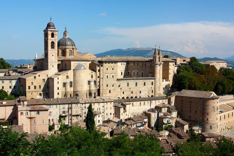 Urbino-Ansicht stockfotografie