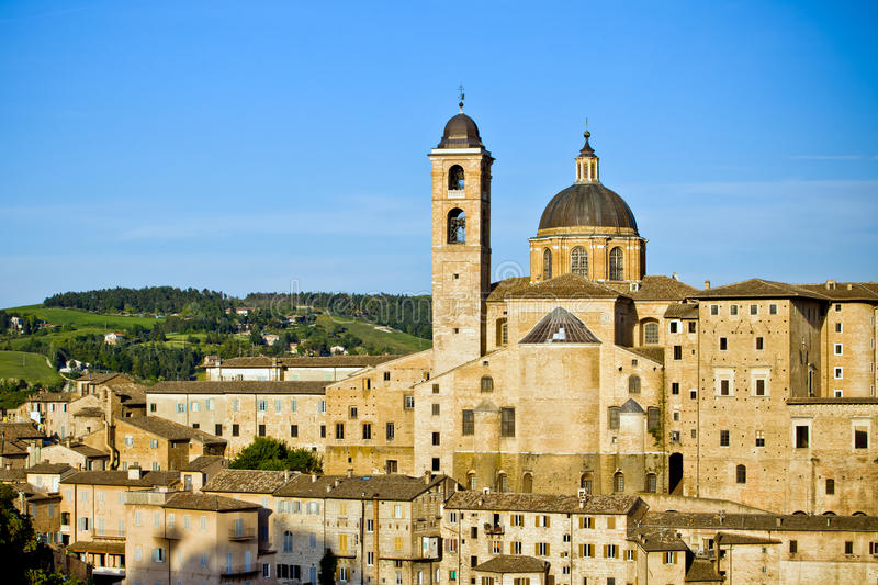 Urbino city view, Italy royalty free stock images