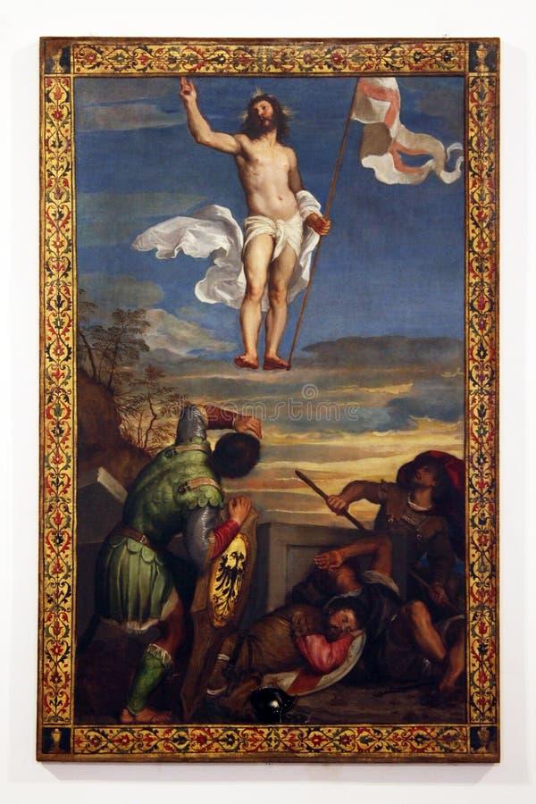 Urbino, Italie, peinture de Tiziano Vecellio, galerie nationale images libres de droits