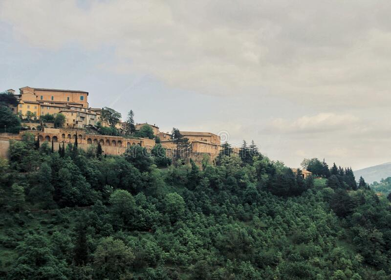 Urbino, the world heritage brick city on the hill, center of Italy royalty free stock images