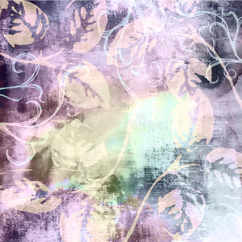 Urblekt midnatt purpurfärgad textil Matt Painted Grunge Wallpapers arkivfoton