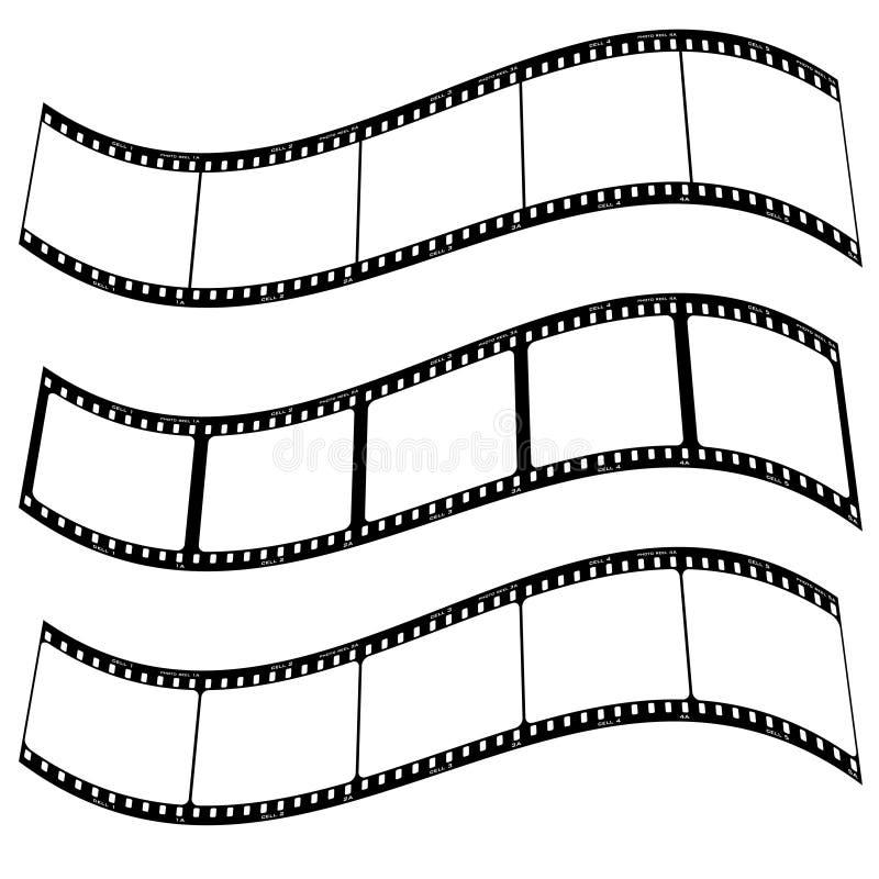 Urdidura da tira da película da foto ilustração stock