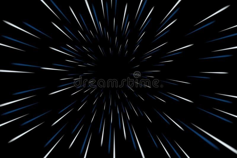 A urdidura stars a galáxia ilustração royalty free