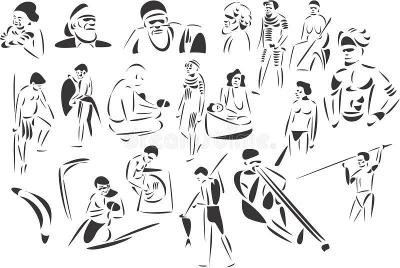 Ureinwohner lizenzfreie abbildung