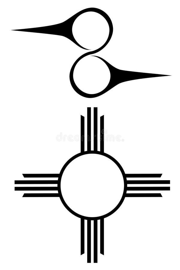 Ureinwohnersymbole Stockbild