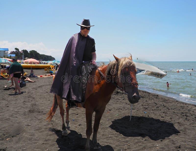 Ureki strand, Republiken Georgien royaltyfri foto
