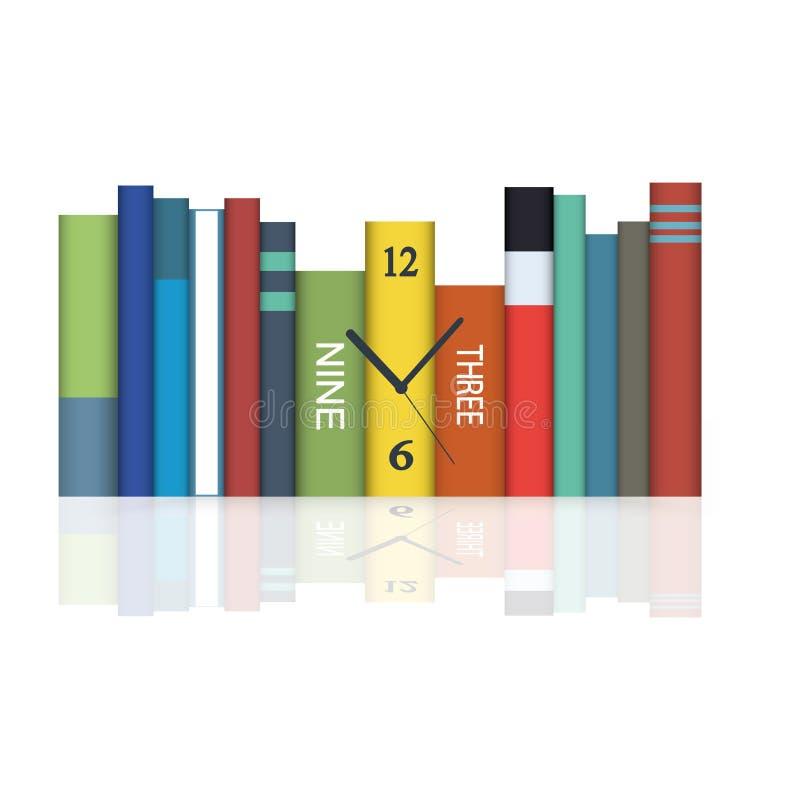 Download Uren in boeken vector illustratie. Illustratie bestaande uit boek - 54086725