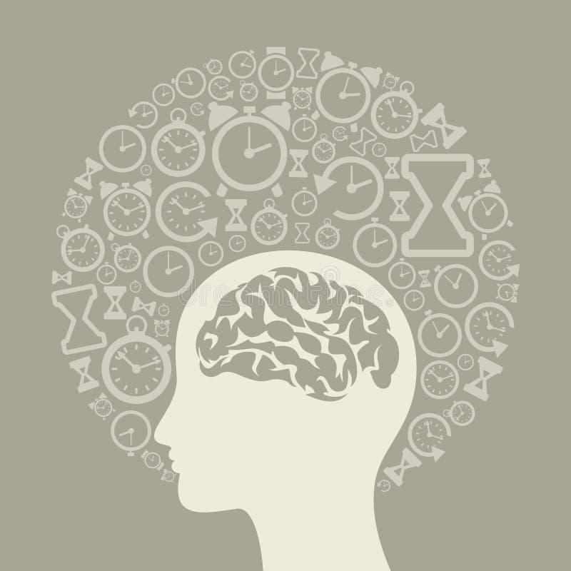 Uren een head2 vector illustratie
