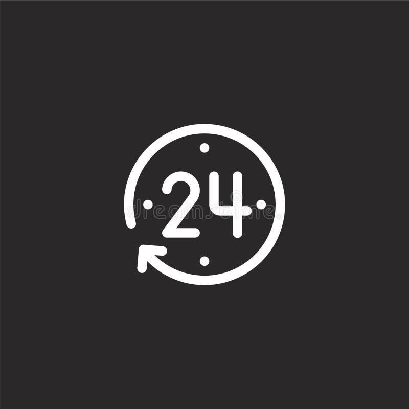 urenpictogram Gevuld urenpictogram voor websiteontwerp en mobiel, app ontwikkeling urenpictogram van gevulde geïsoleerde nieuwsin royalty-vrije illustratie