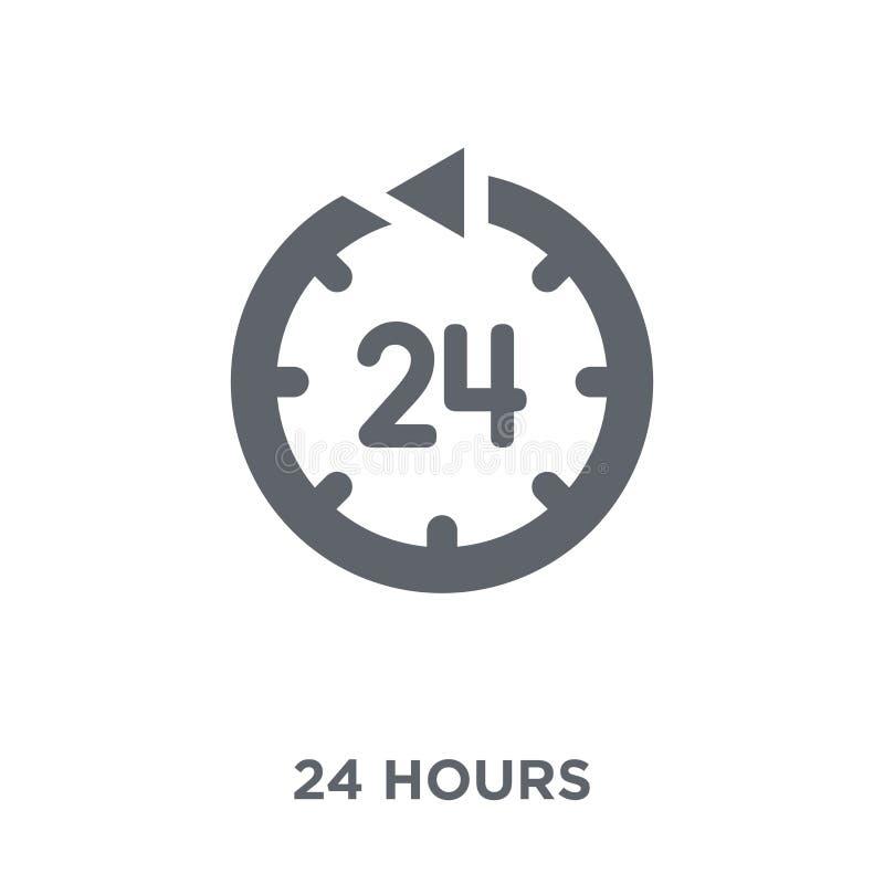 24 urenpictogram van Tijd managemnet inzameling stock illustratie