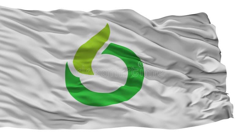 Ureshino-Stadt-Flagge, Japan, Saga-Präfektur, lokalisiert auf weißem Hintergrund stock abbildung
