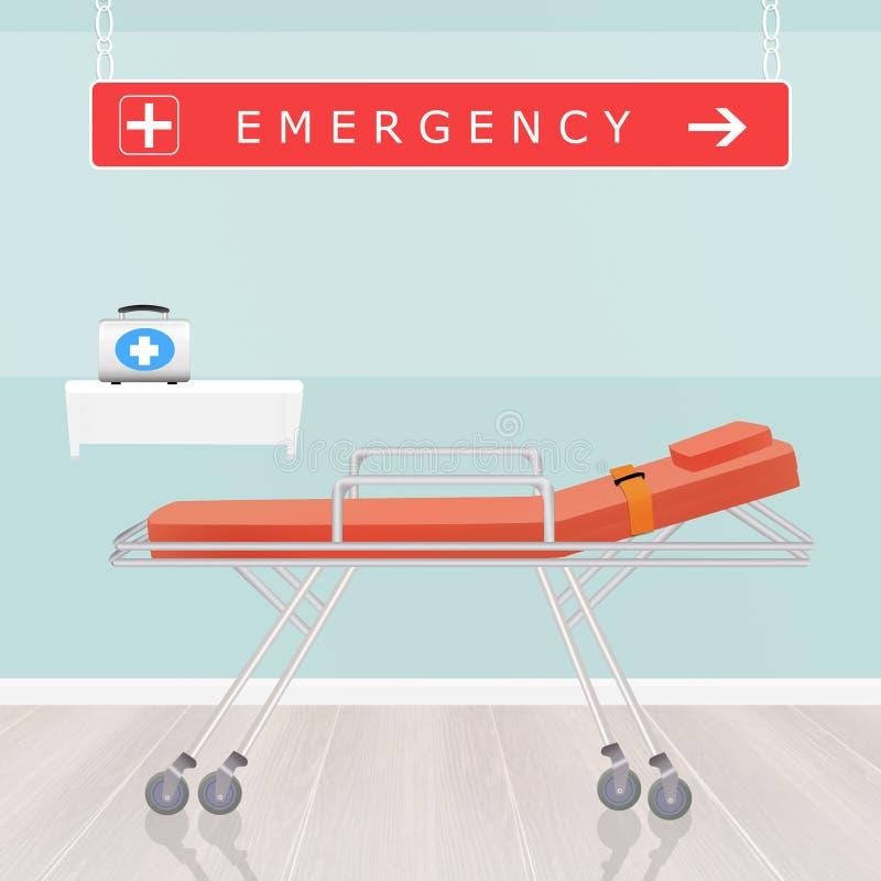 Urgências no hospital ilustração do vetor