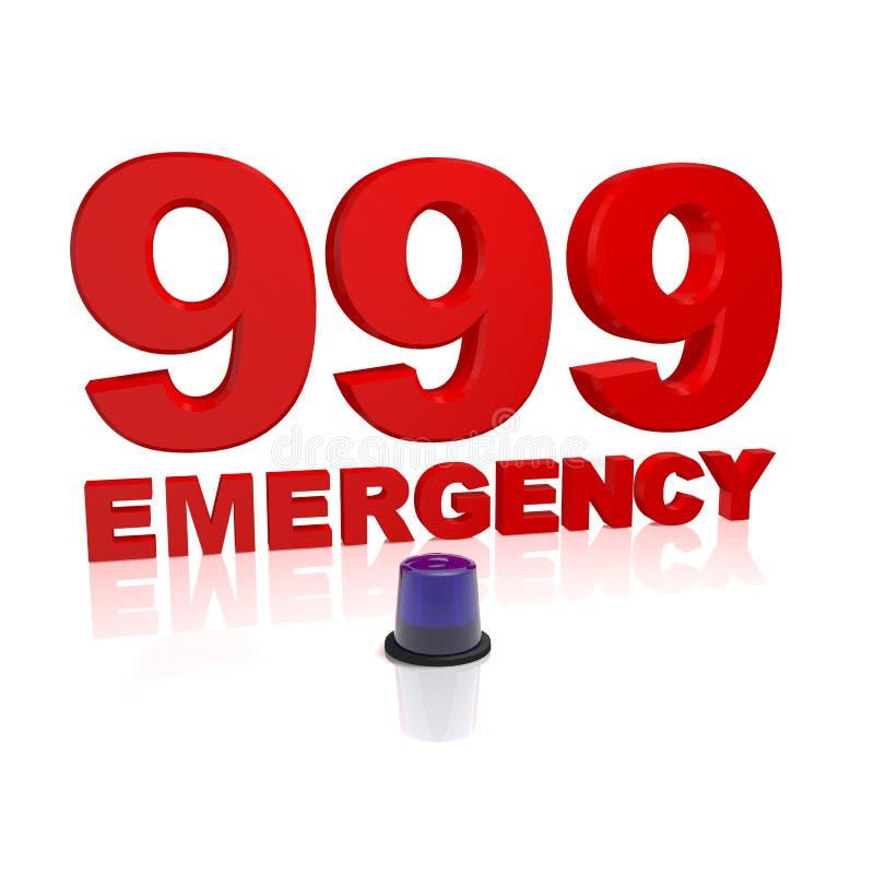 urgence 999 illustration de vecteur