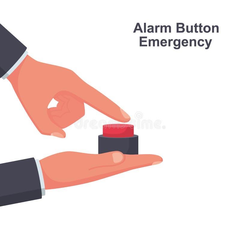 Urgence de bouton d'alarme Bouton pour appeler le docteur illustration stock