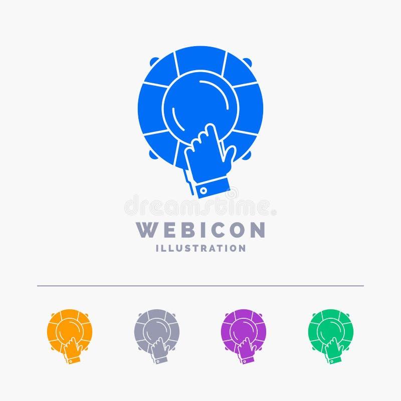urgence, garde, aide, assurance, calibre d'icône de Web de Glyph de couleur de la bouée de sauvetage 5 d'isolement sur le blanc I illustration de vecteur