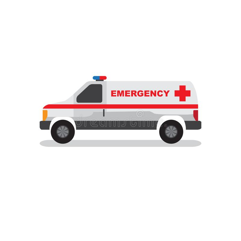 Urgence Van et vecteur d'ambulance de voiture illustration stock