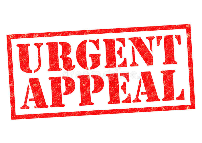 URGENT APPEAL. Red Rubber Stamp over a white background royalty free illustration