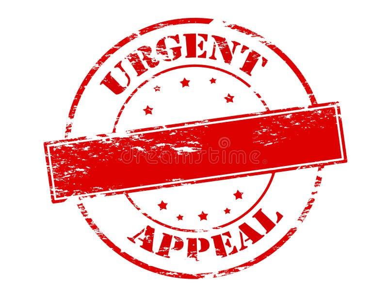 Urgent appeal. Rubber stamp with text urgent appeal inside, illustration stock illustration