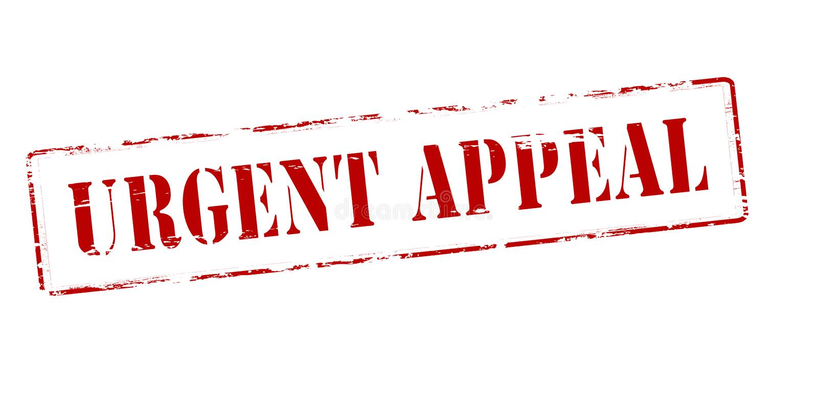 Urgent appeal. Rubber stamp with text urgent appeal inside, vector illustration vector illustration