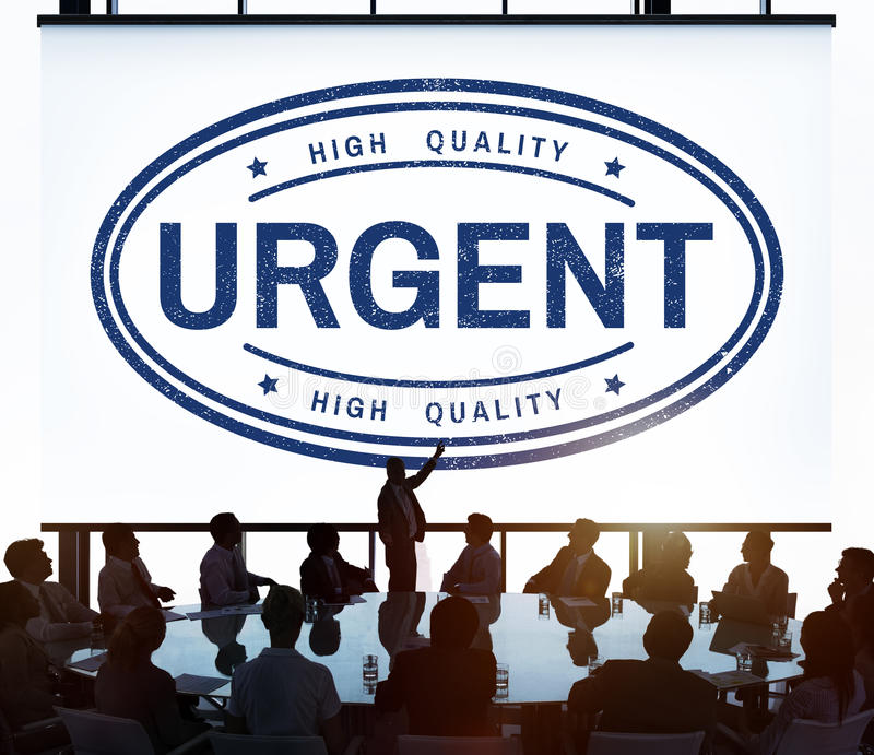 Urgent Important Priority Stamp Word Concept stock illustration