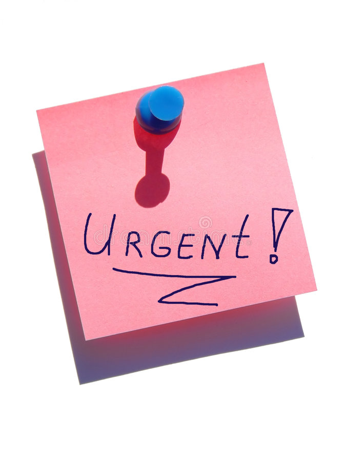 Download Urgent note stock photo. Image of priority, urgent, message - 4610