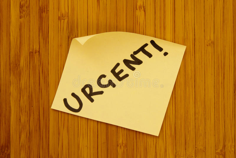 Download Urgent Note stock image. Image of noticeboard, yellow - 12200483