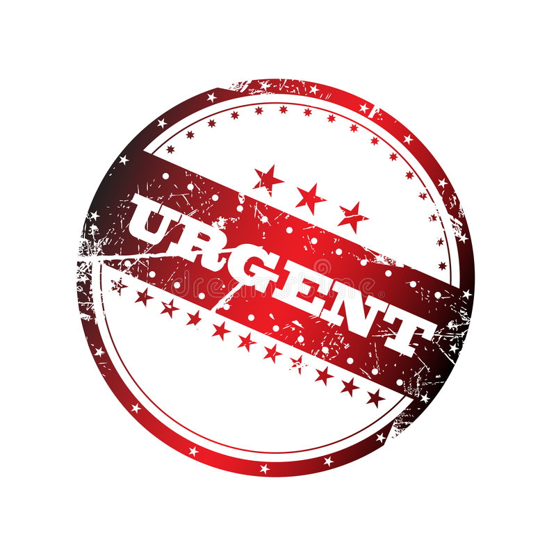 Download Urgent Stamp Royalty Free Stock Photography - Image: 7435187