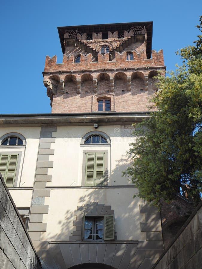 Urgnano, Bergamo, W?ochy ?redniowieczny kasztel w centrum wioska zdjęcie royalty free