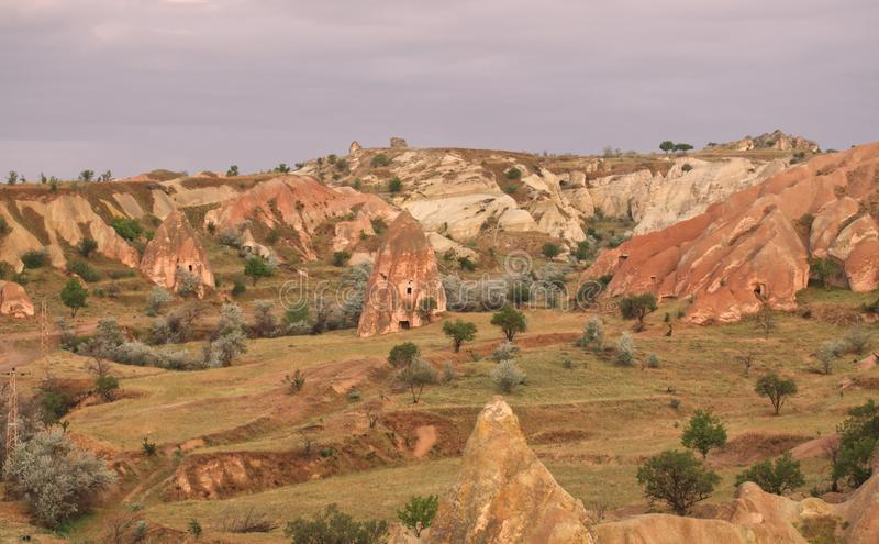 Urgup landelijk landschap royalty-vrije stock fotografie