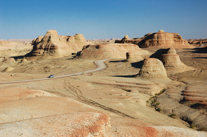 Download Urho Ghost Castle stock image. Image of xinjiang, landforms - 3697861