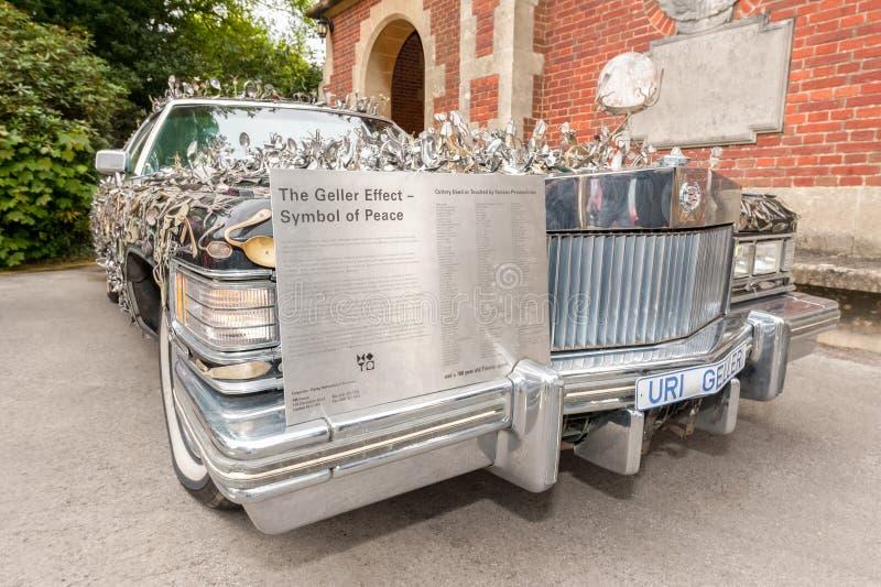 Uri Geller Cadillac imagenes de archivo