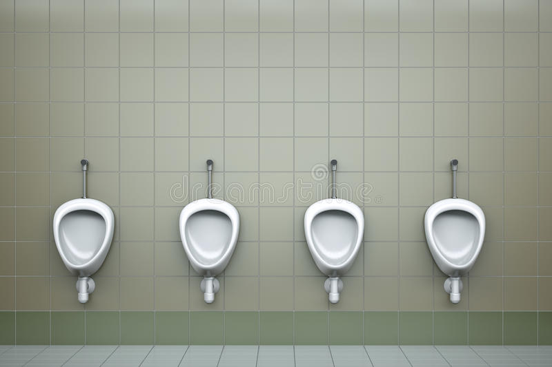 Urinals vector illustration