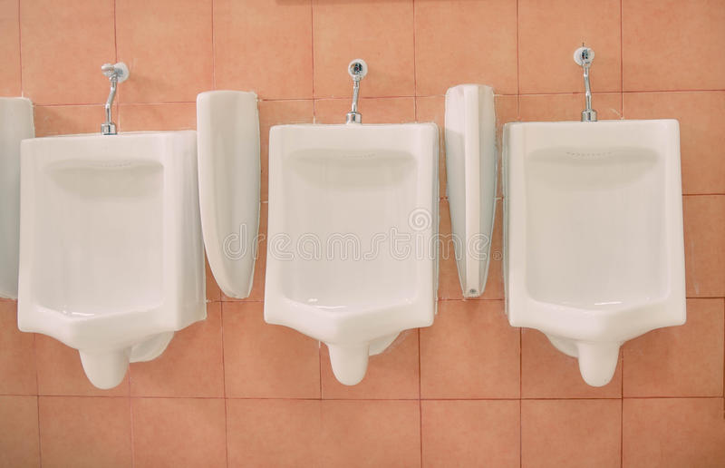 urinals foto de archivo