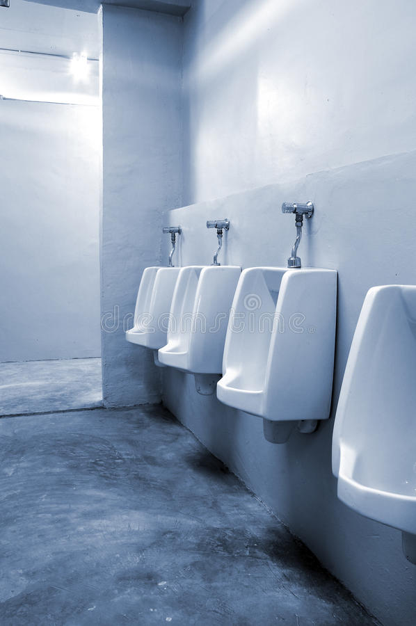 Download Urinals In Bathroom At Office Stock Image - Image of open, home: 18210725