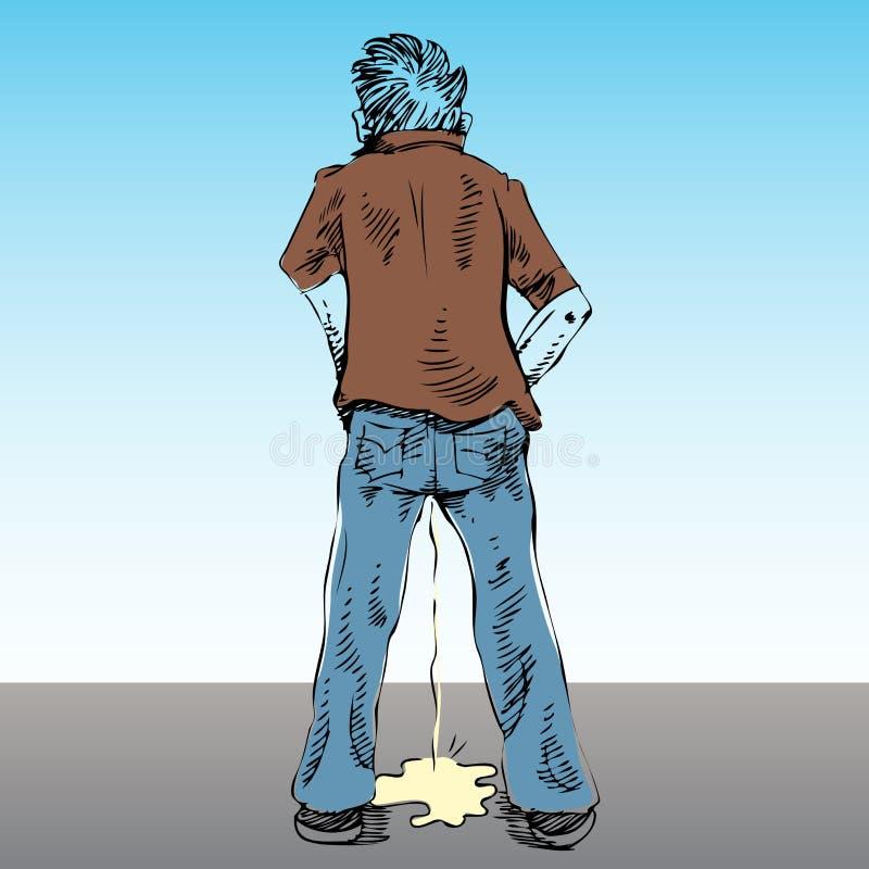 Urinar no público ilustração do vetor