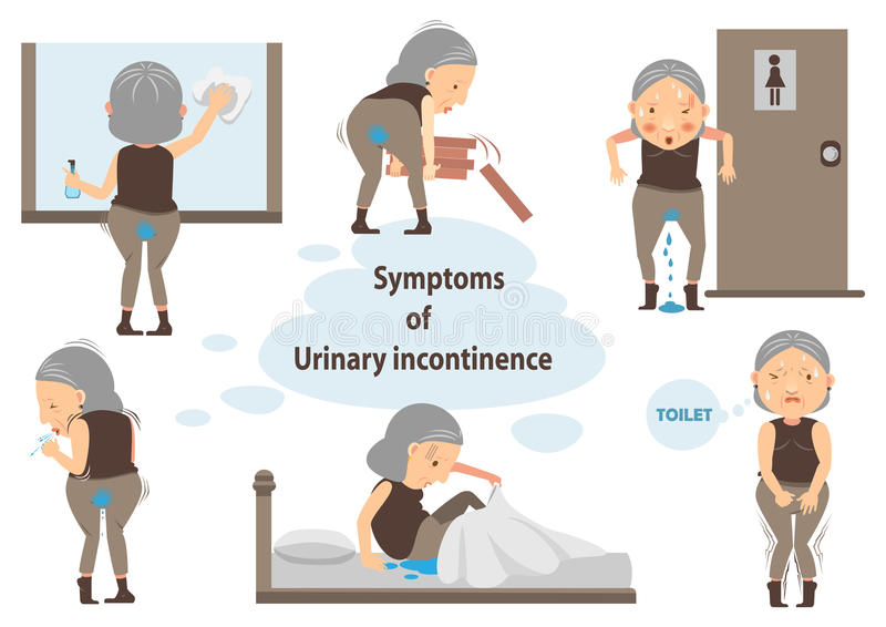 Urinary incontinence royalty ilustracja